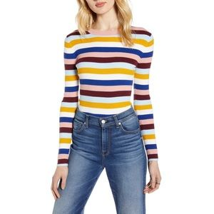 Halogen Women's Crew Neck Fitted Ribbed Sweater